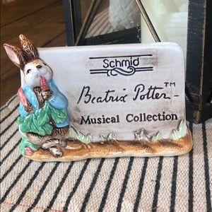 Schmid Beatrix Potter musical collection plaque